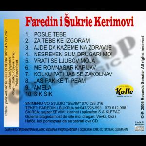 Faredin Kerimov – Za tebe kje izgoram – Audio Album 2006 – Senator Music Bitola